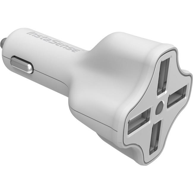 4 PORT USB CAR CHRGR INSTASENSE 6.2 AMP