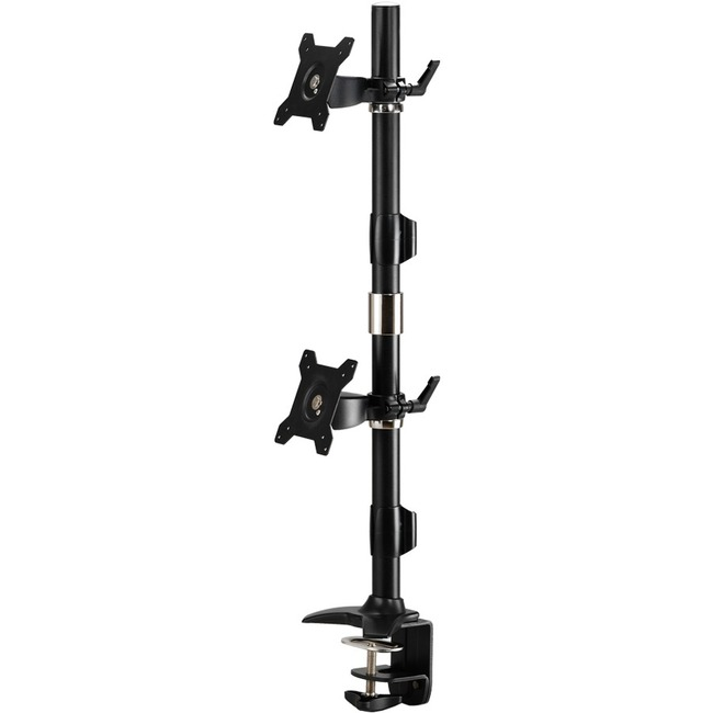 A Clamp based mount that supports up to two 24 LED/LCD monitors, each weighing u