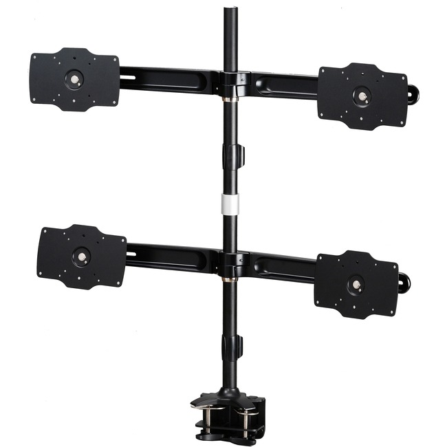 A Clamp based mount that supports up to four 32 LED/LCD monitors, each weighing