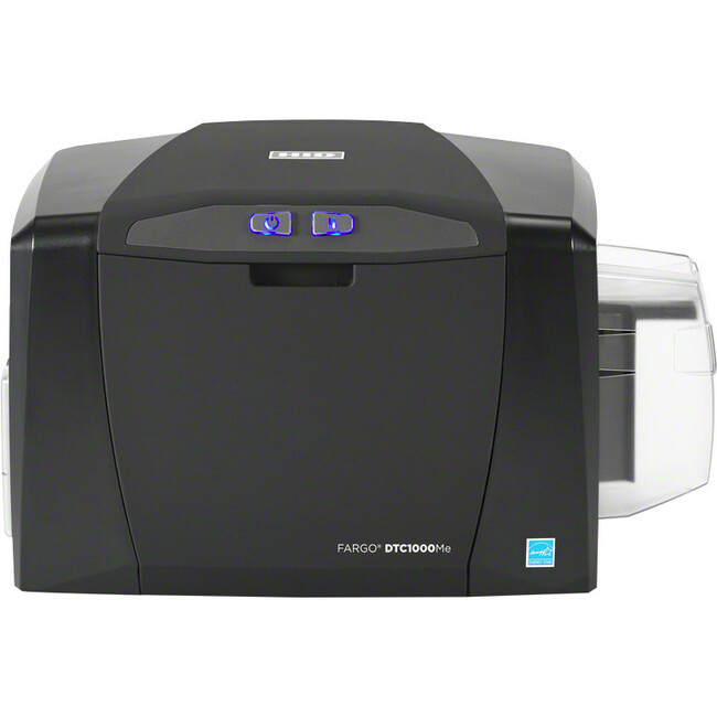 Fargo DTC1000ME Single Sided Dye Sublimation/Thermal Transfer Printer - Monochrome - Desktop - Card Print