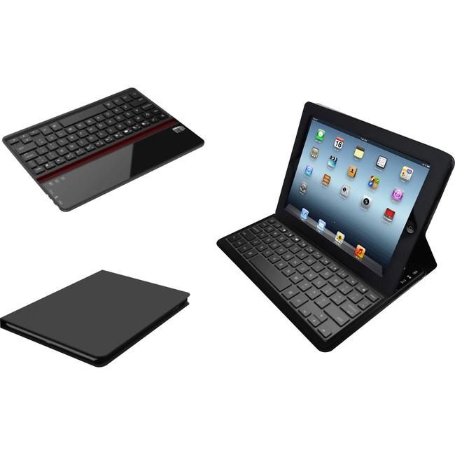 Adesso Compagno Air Bluetooth 3.0 Scissor-Switch Keyboard & Folio Case