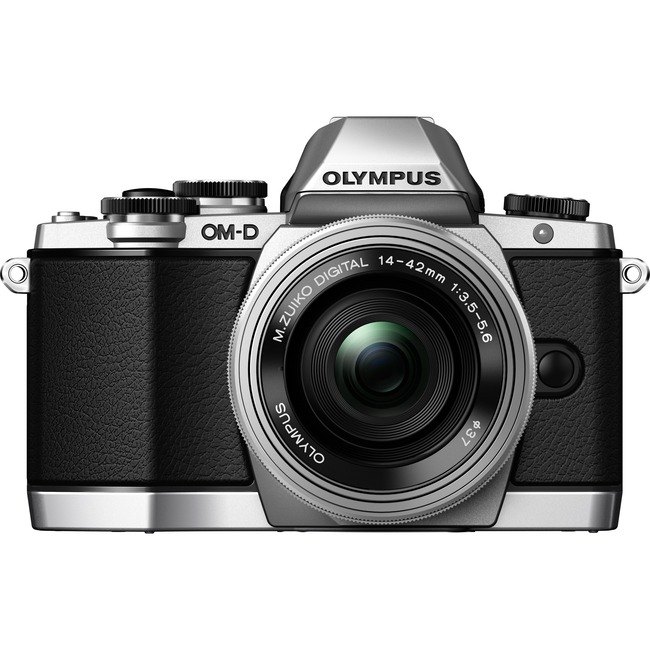 Olympus OM-D E-M10 16.1 Megapixel Mirrorless Camera with Lens - 14 mm - 42 mm - Silver