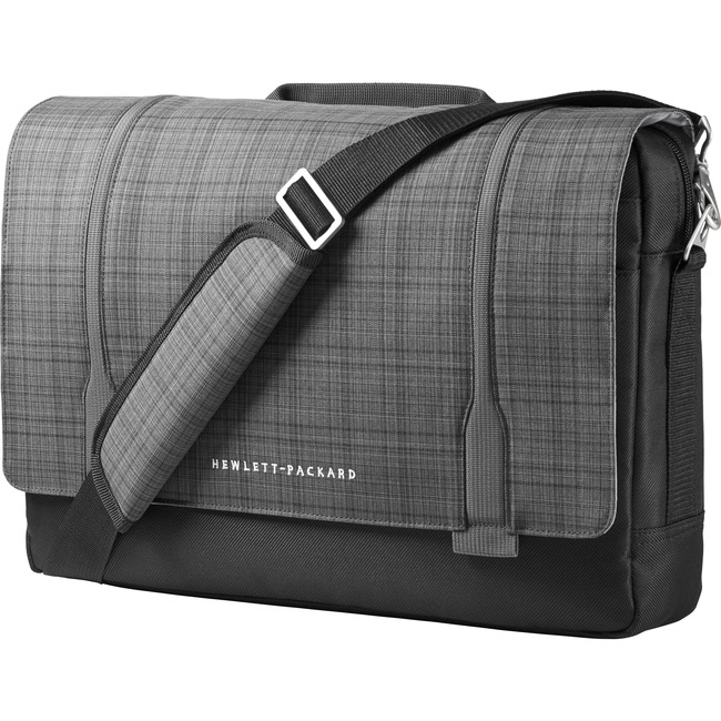 "HP Carrying Case (Messenger) for 15.6"" Ultrabook - Black, Gray"