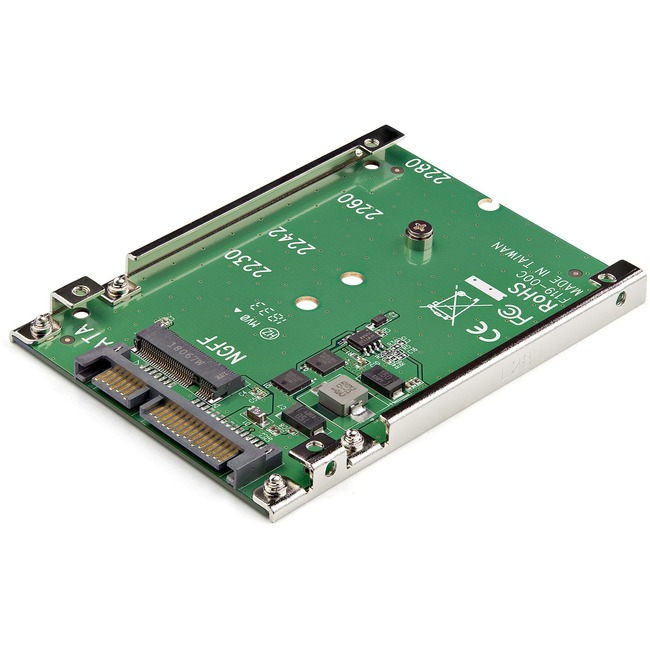 StarTech.com M.2 NGFF SSD to 2.5in SATA Adapter Converter - 1 x Total Bay - M.2 - Serial ATA