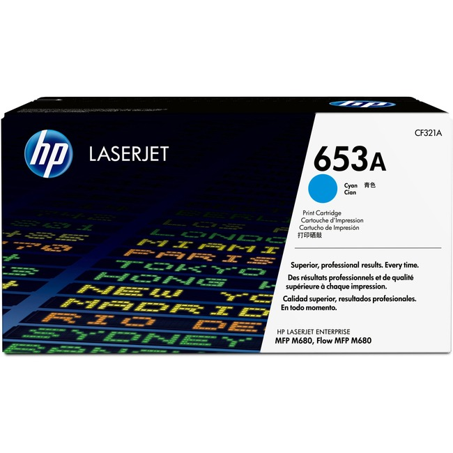 HP 653A Original Toner Cartridge - Cyan
