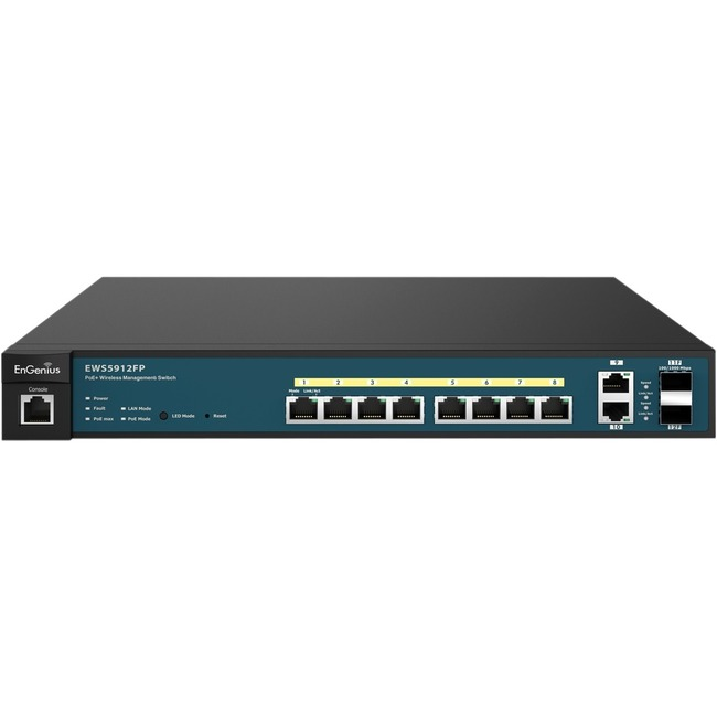 EnGenius Neutron Series 8-Port Gigabit PoE+ Wireless Management Switch with Uplink Ports