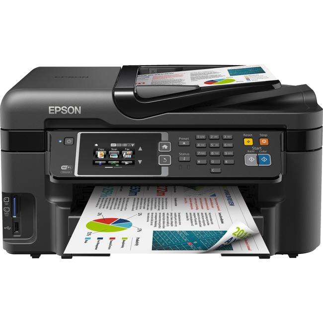 Epson WorkForce WF-3620 Inkjet Multifunction Printer - Color - Photo Print - Desktop