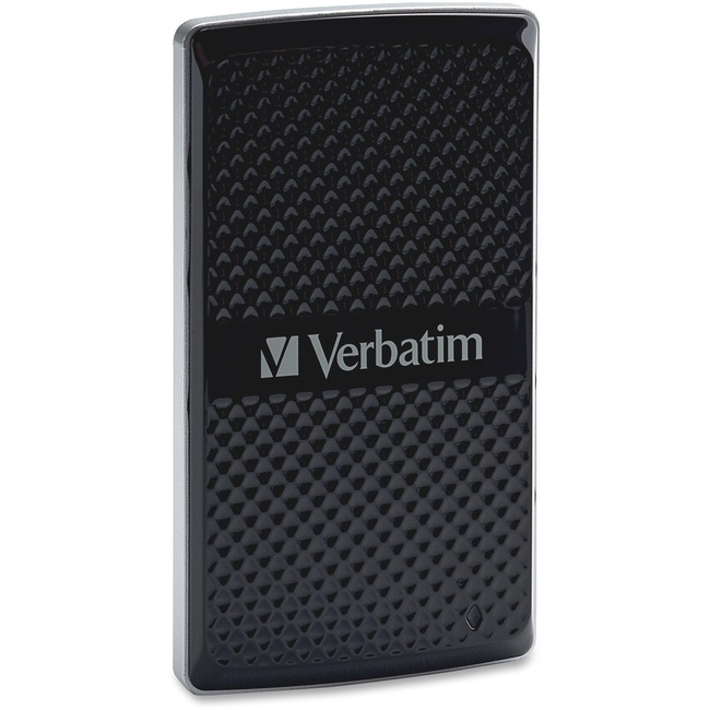 Verbatim 256GB Vx450 External SSD, USB 3.0 with mSATA Interface - Black - TAA Compliant