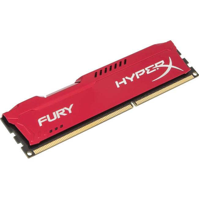 Kingston HyperX Fury RAM Module - 4 GB - DDR3 SDRAM - 1333 MHz - 1.50 V - Non-ECC - Unbuffered - CL9 - DIMM
