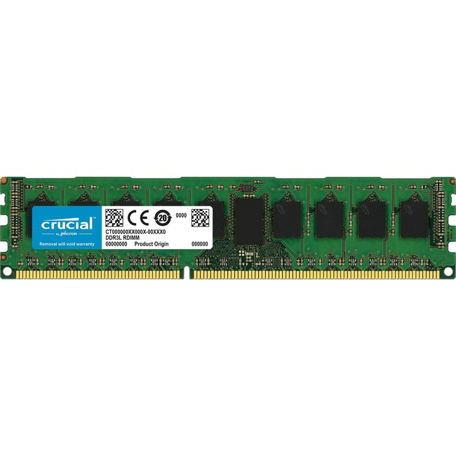 Crucial RAM Module - 8 GB 1 x 8 GB - DDR3 SDRAM - 1866 MHz DDR3-1866/PC3-14900 - 1.50 V - ECC - Unbuffered - CL13 - 240-pin - DIMM