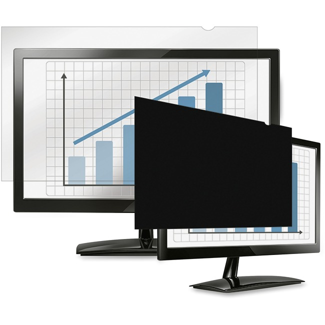 """Fellowes PrivaScreen Blackout Privacy Filter   23.0"""" Wide Crystal Clear, Black"""