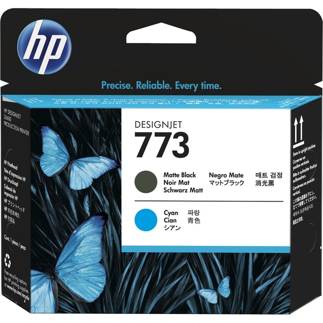 HP 773 Original Printhead - Matte Black, Cyan