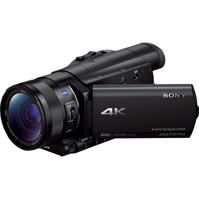 "Sony Handycam FDR-AX100 Digital Camcorder - 3.5"" - Touchscreen LCD - CMOS - 4K - Black"