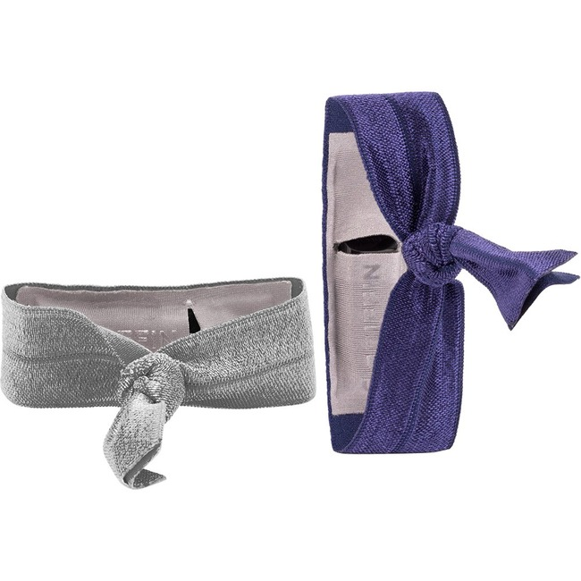 Griffin Ribbon Wristband 2-Pack, Silver/Purple