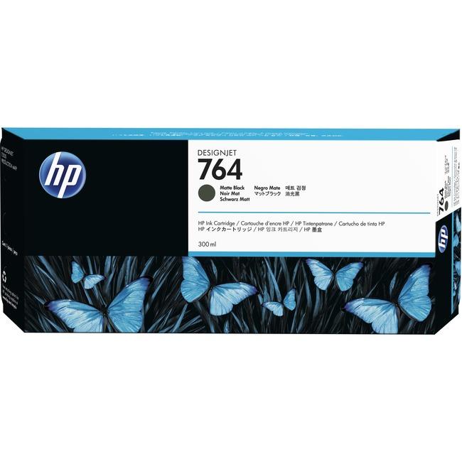 HP INC. - WIDE FORMAT INK 764 300ML MATTE BLACK INK CARTRIDGE