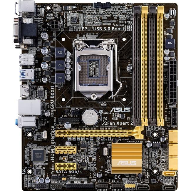 Asus Motherboard B85M-G R2.0 Intel Core i7/i5/i3 LGA1150 B85 32GB PCI-Express SATA USB microATX Reta