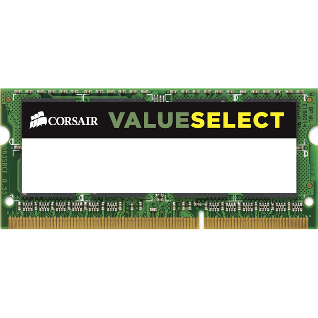 Corsair RAM Module - 8 GB 1 x 8 GB - DDR3 SDRAM - 1600 MHz DDR3-1600/PC3-12800 - 1.35 V - Unbuffered - CL11 - 204-pin - SoDIMM