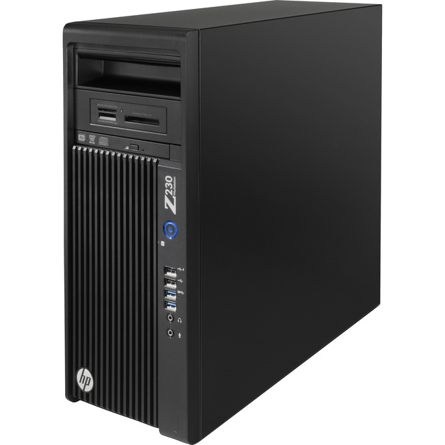 HP Z230 Mini-tower Workstation - 1 x Processors Supported - 1 x Intel Xeon E3-1246 v3 Quad-core (4 Core) 3.50 GHz