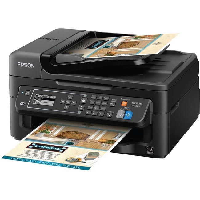 Epson WorkForce 2630 Inkjet Multifunction Printer - Color - Plain Paper Print - Desktop
