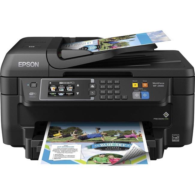 Epson WorkForce 2660 Inkjet Multifunction Printer - Color - Plain Paper Print - Desktop