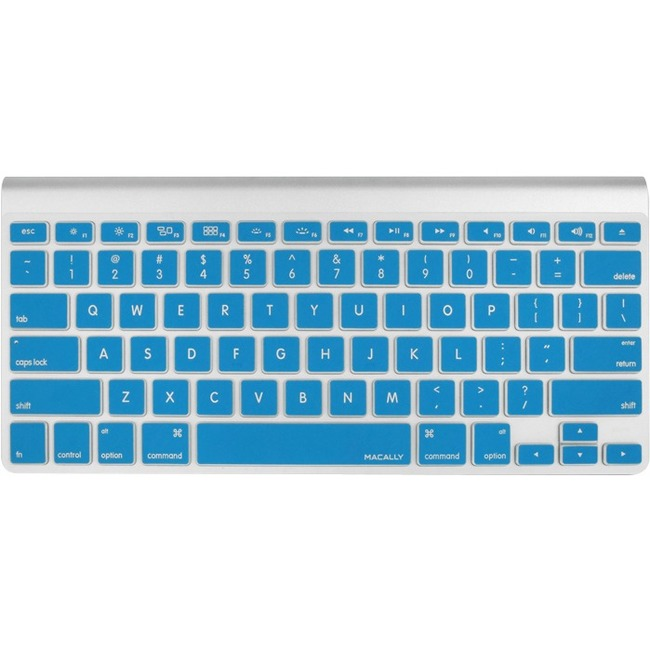 Macally Protective Cover in Blue for Macbook Pro, Macbook Air and Most Mac Keyboards