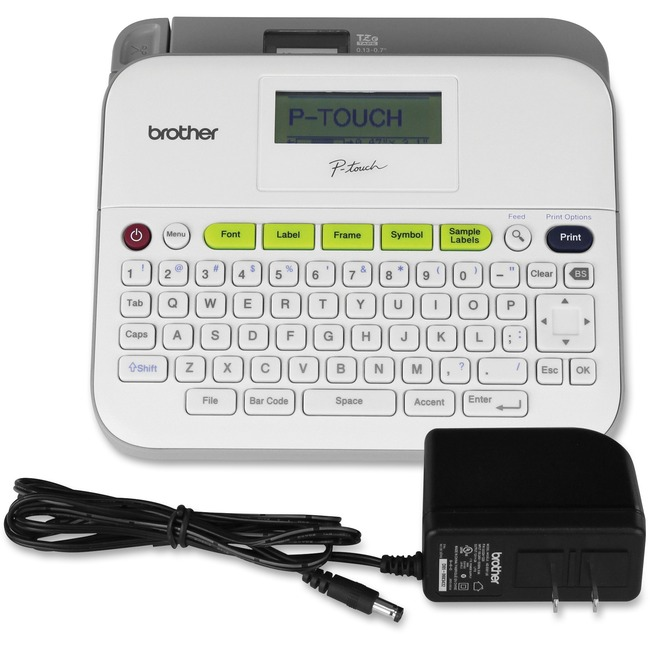 Brother P-Touch - PT-D400AD Desktop Labelmaker - Thermal Transfer- Monochrome