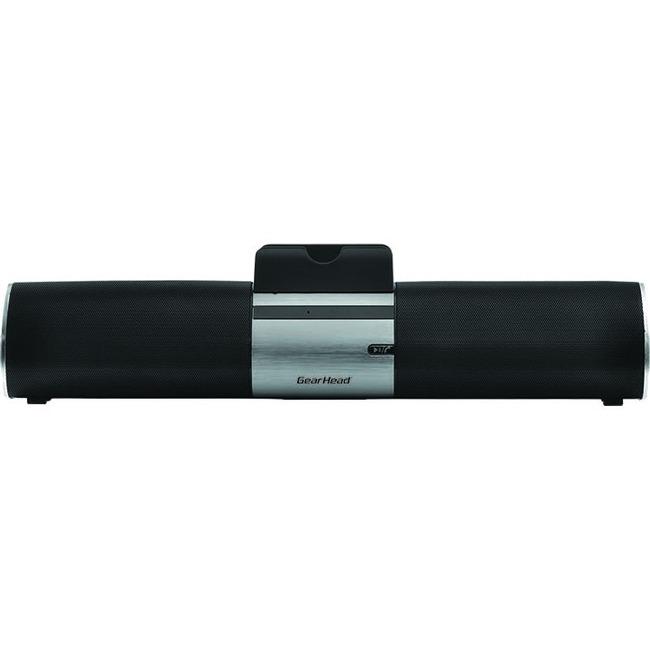 Gear Head BT7500BLK 2.0 Speaker System - 3 W RMS - Portable - Battery Rechargeable - Wireless Speaker(s)