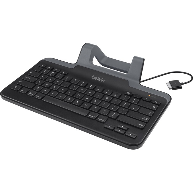 Belkin Wired Tablet Keyboard With Stand for iPad with Lightning Connector