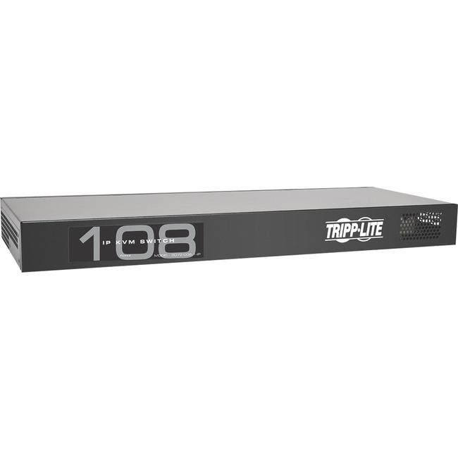 Tripp Lite 8-Port IP Cat5 KVM Switch Compact 1+1 User Rackmount