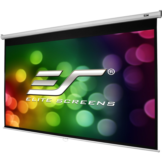 "Elite Screens Manual M100X Manual Projection Screen - 100"" - 16:10 - Wall Mount, Ceiling Mount"