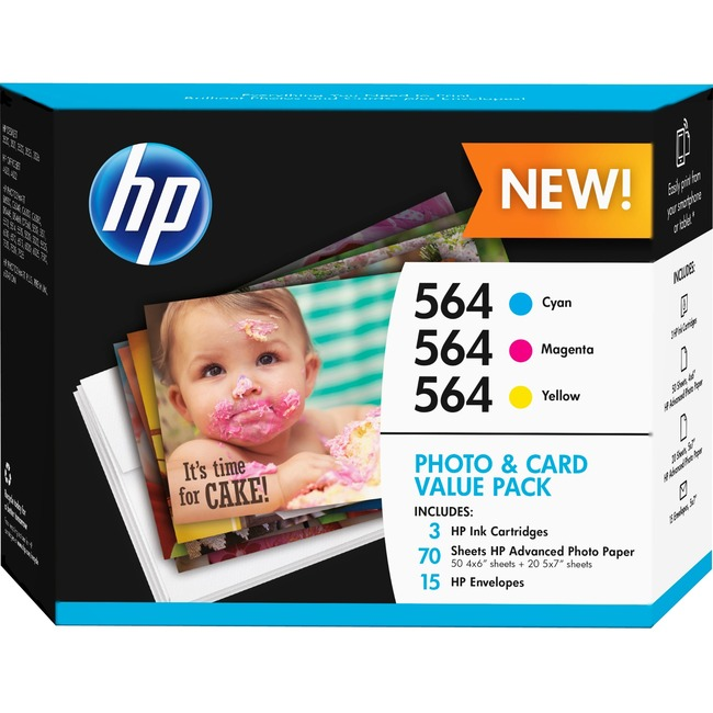 HP 564 Original Ink Cartridge - Cyan, Yellow, Magenta