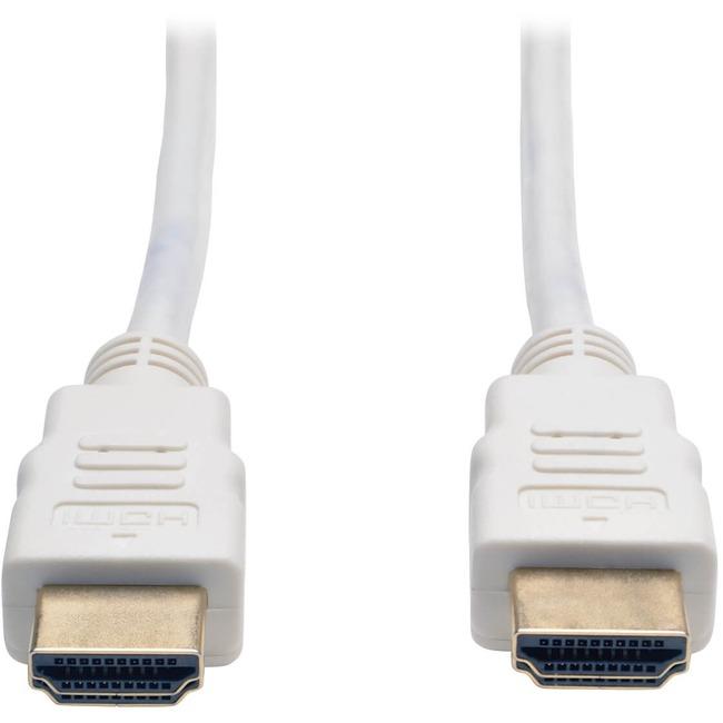 TRIPP LITE 6FT HIGH SPEED HDMI CABLE DIGITAL VIDEO W/ AUDIO M/M WHITE