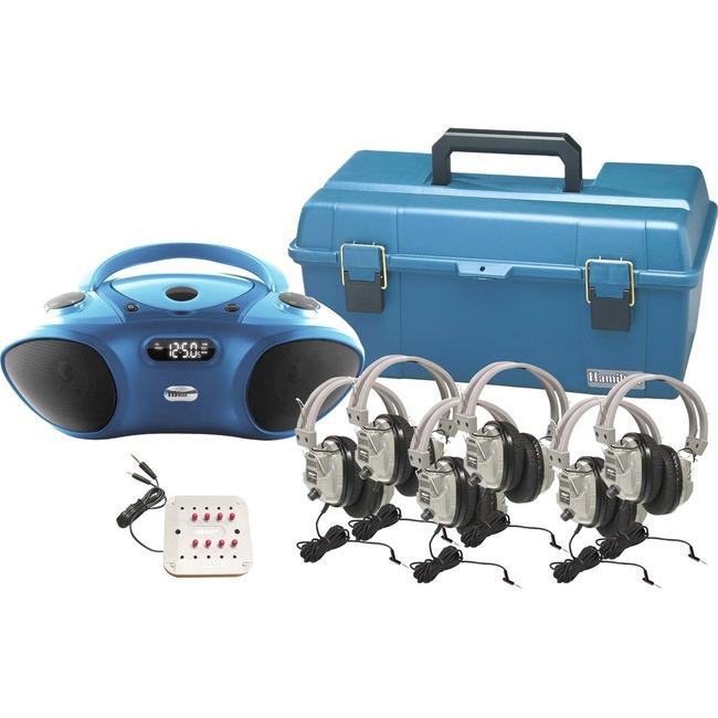 Hamilton Buhl Val-U-Pak Bluetooth/CD/FM Listening Center, 6 station