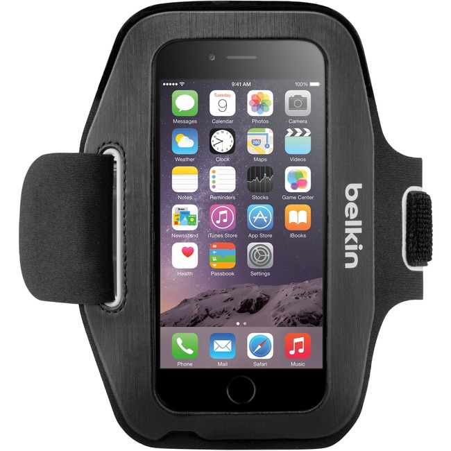 Belkin Sport-Fit Carrying Case (Armband) for iPhone 6 - Blacktop, Overcast