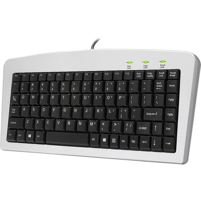 Adesso Mini Keyboard - AKB-901 (USB+PS/2 Silver/Black)