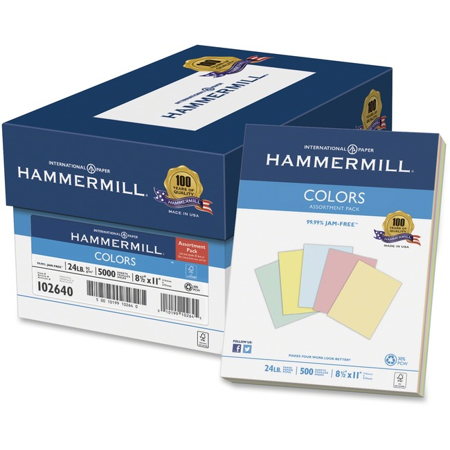 Hammermill Colors Inkjet Laser Print Colored Paper