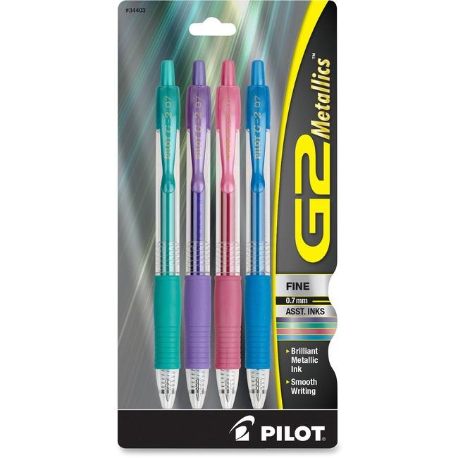 Pilot G2 Metallics .7mm Point Ink Pens