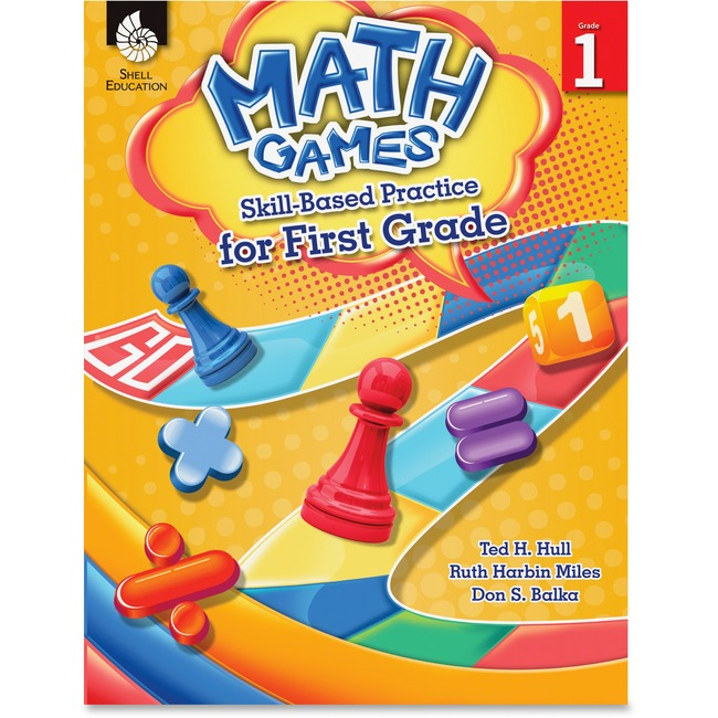 Shell Math Games Skill Based Pract 1 Grade Education Printed Book for Mathematics by Ted H. Hull, Ruth Harbin Miles, Don S. Balka