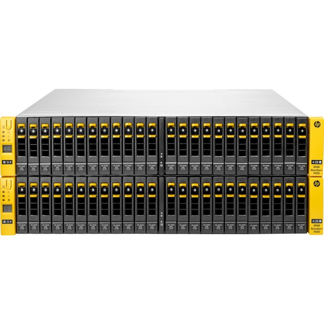 HP 3PAR StoreServ 7400c SAN Array - 48 x HDD Supported