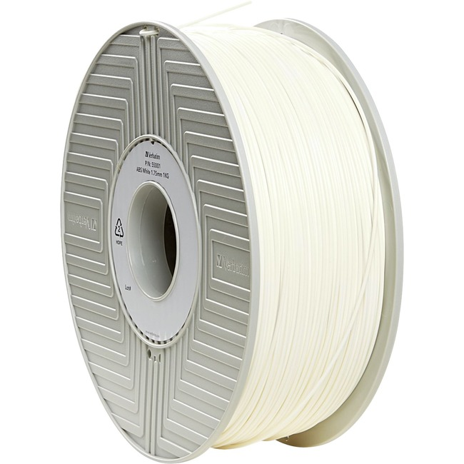 Verbatim ABS 3D Filament 1.75mm 1kg Reel - White - TAA Compliant