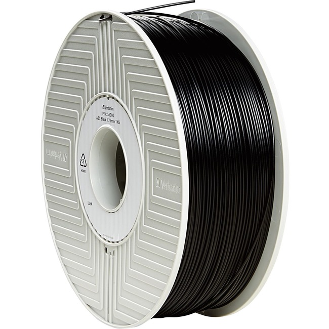 Verbatim ABS 3D Filament 1.75mm 1kg Reel - Black - TAA Compliant