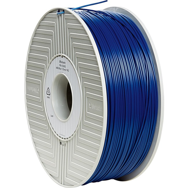 Verbatim ABS 3D Filament 1.75mm 1kg Reel - Blue - TAA Compliant