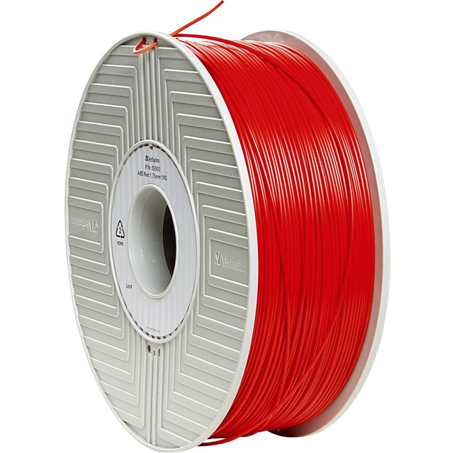Verbatim ABS 3D Filament 1.75mm 1kg Reel - Red - TAA Compliant
