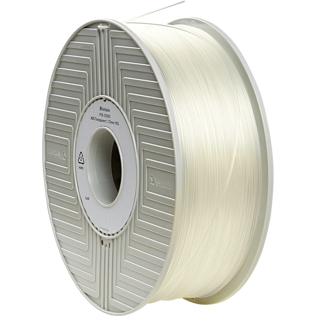 Verbatim ABS 3D Filament 1.75mm 1kg Reel - Transparent - TAA Compliant
