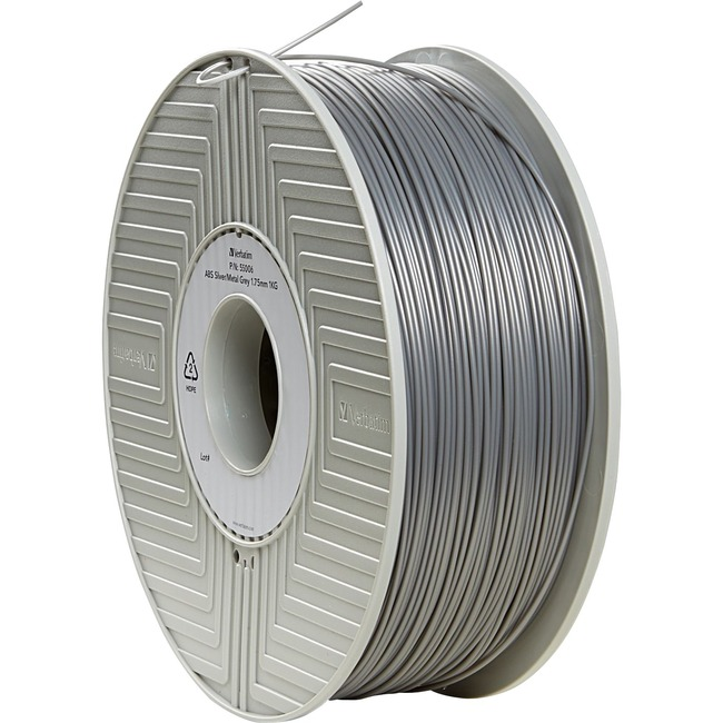 Verbatim ABS 3D Filament 1.75mm 1kg Reel - Silver - TAA Compliant