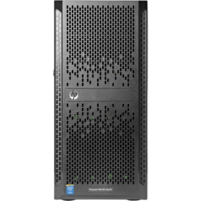 HP ProLiant ML150 G9 5U Tower Server | 1 x Intel Xeon E5-2603 v3 Hexa-core (6 Core) 1.60 GHz | 4 GB Installed DDR4 SDRAM | Serial ATA/600 Controller | 0, 1, 5, 10 RAID Levels | 1 x 550 W