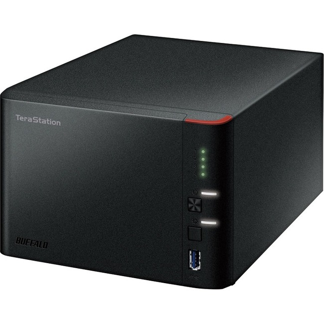 Buffalo TeraStation TS1400D1604 4 x Total Bays NAS Server - Marvell ARMADA 370 Dual-core 2 Core 1.20 GHz - 16 TB HDD 4 x 4 TB - 512 MB RAM DDR3 SDRAM - Serial AT