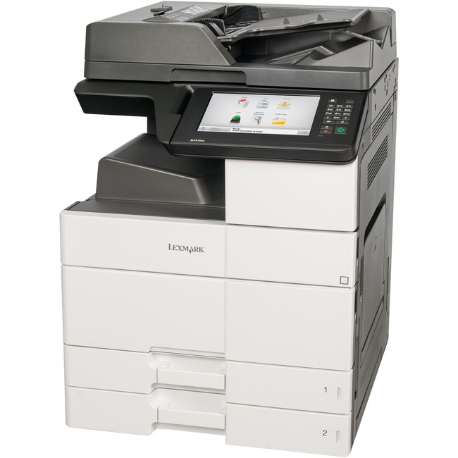 Lexmark MX910DE Laser Multifunction Printer - Monochrome - Plain Paper Print - Floor Standing