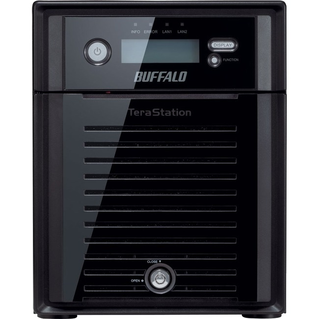 Buffalo TeraStation TS5400DWR0404 4 x Total Bays NAS Server - Desktop - Intel Atom D2550 Dual-core 2 Core 1.86 GHz - 4 TB HDD 4 x 1 TB - 2 GB RAM DDR3 SDRAM - Se