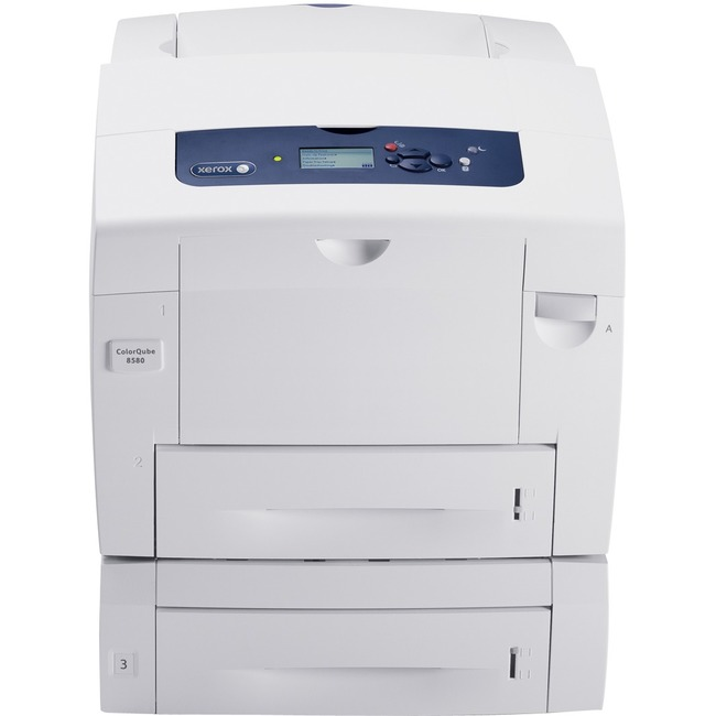 Xerox ColorQube 8580DT Solid Ink Printer - Color - 2400 dpi Print - Plain Paper Print - Desktop
